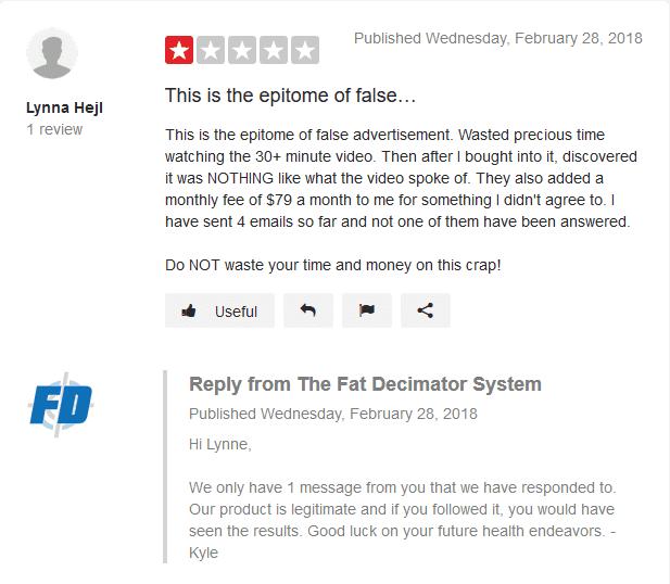 Fat Decimator negetive Review