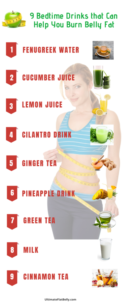 9 drinks for burn belly fat
